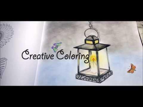 Lonely Lantern Coloring Book Secret Garden