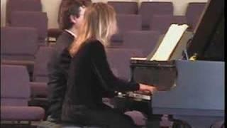 Brahms Hungarian Dance for Piano 4 Hands #4 in Fa Minor, Poco sostenuto