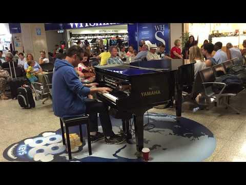 Malta Airport - Piano Man from ireland