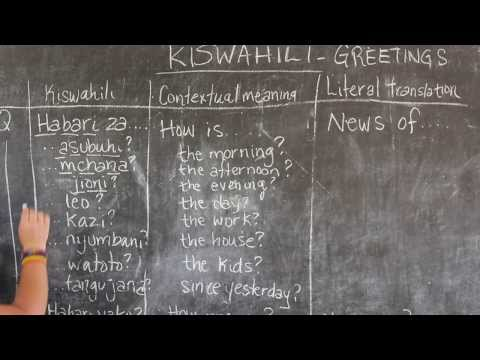 Video #2 - GO! presents: BEST Swahili Tutorial - GREETINGS Part 2 (live from Tanzania)