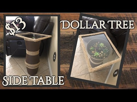DIY Dollar Tree Side Table Terrarium.....