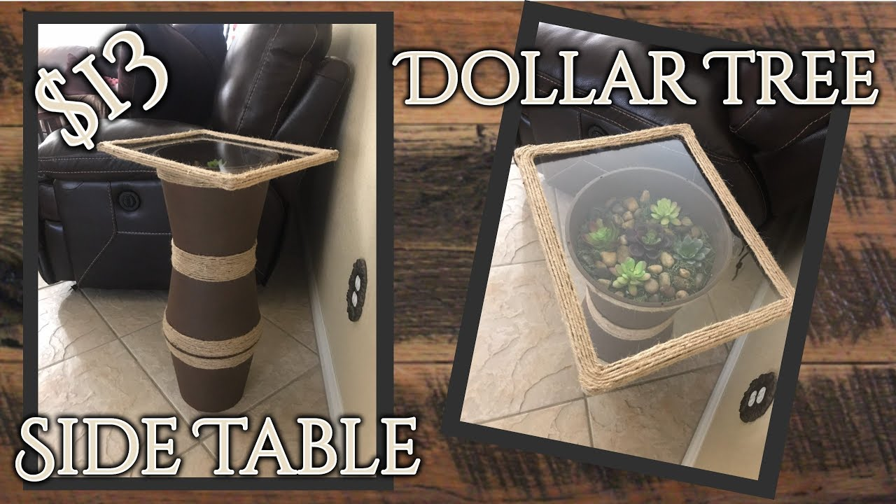 Diy Dollar Tree Side Table Terrarium Youtube
