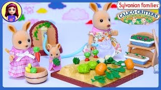 Sylvanian Families Calico Critters Kangaroo Family Vegetable Garden Set Silly Play - Kids Toys