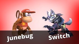 WTT2 - Junebug (Diddy Kong) vs Switch (Wolf) - Project M