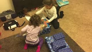Hanukkah 2017 opening presents