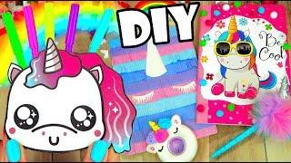 DIY Unicorn School Supplies / Unicorn Crafts