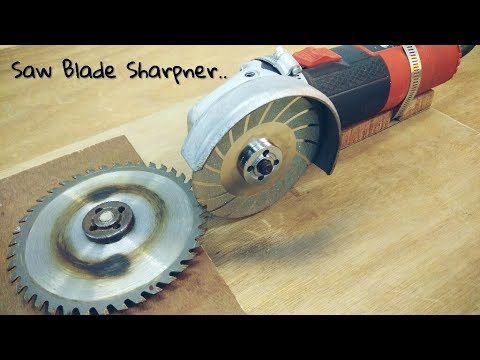 Making Saw Blade Sharpener Using A Hand Grinder Angle