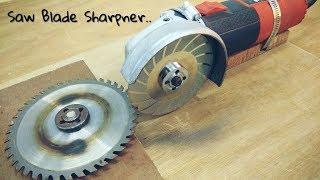 Making Saw Blade Sharpner using a Hand Grinder || Angle Grinder Hack