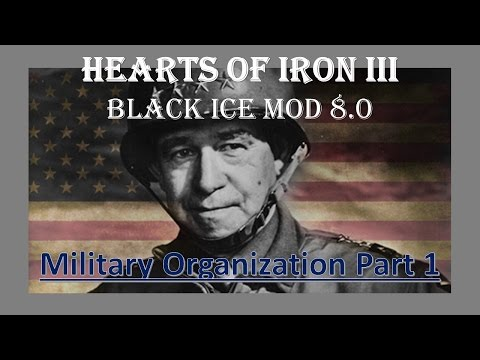 Hearts of Iron 3 Black Ice Mod Tutorial | Military Organization 1