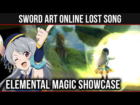 All Elemental Magic & Seven Gameplay in SAO: Lost Song