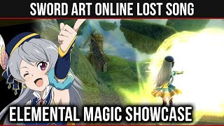 ELEMENTAL MAGIC SHOWCASE & OVERVIEW | Seven Gameplay -【 Sword Art Online: Lost Song 】