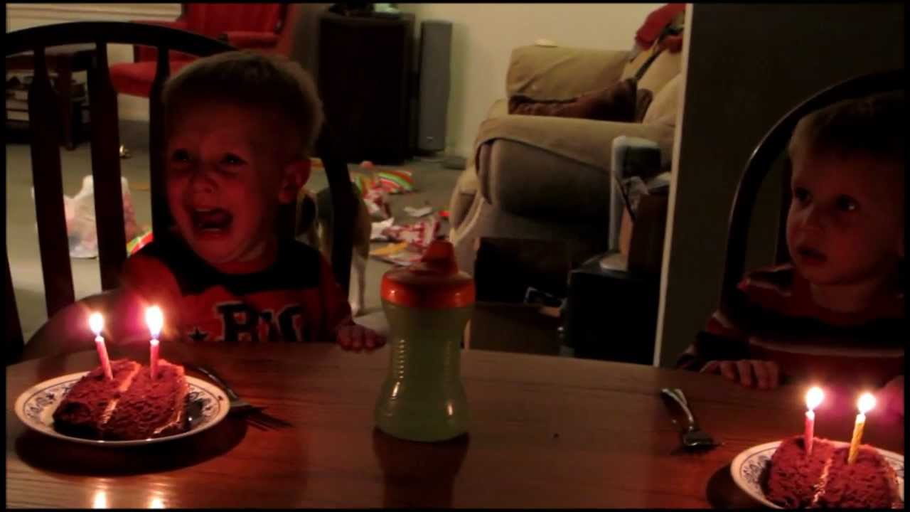 Twin Boys Cry During Happy Birthday Song Youtube