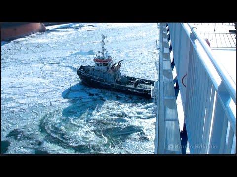 CARGO SHIP AND THE BALTIC SEA IN WINTER 2011  •  Helsinki - Gdansk - Rostock - Helsinki  (HD1080p)