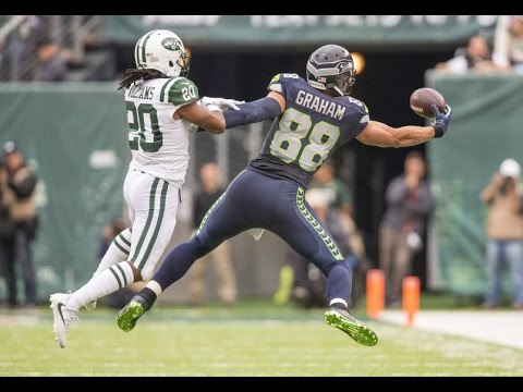 Jimmy Graham vs Jets (NFL Week 4 - 2016) - 113 Yards! BREAKOUT! | NFL Highlights HD