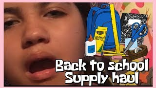 BACK 2 SCHOOL SUPPLY HAUL! 2018