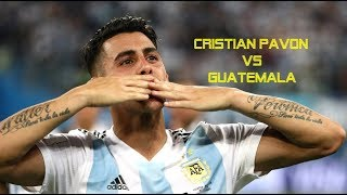 Cristian Pavon vs Guatemala●Friendly 08/09/2018●1080P