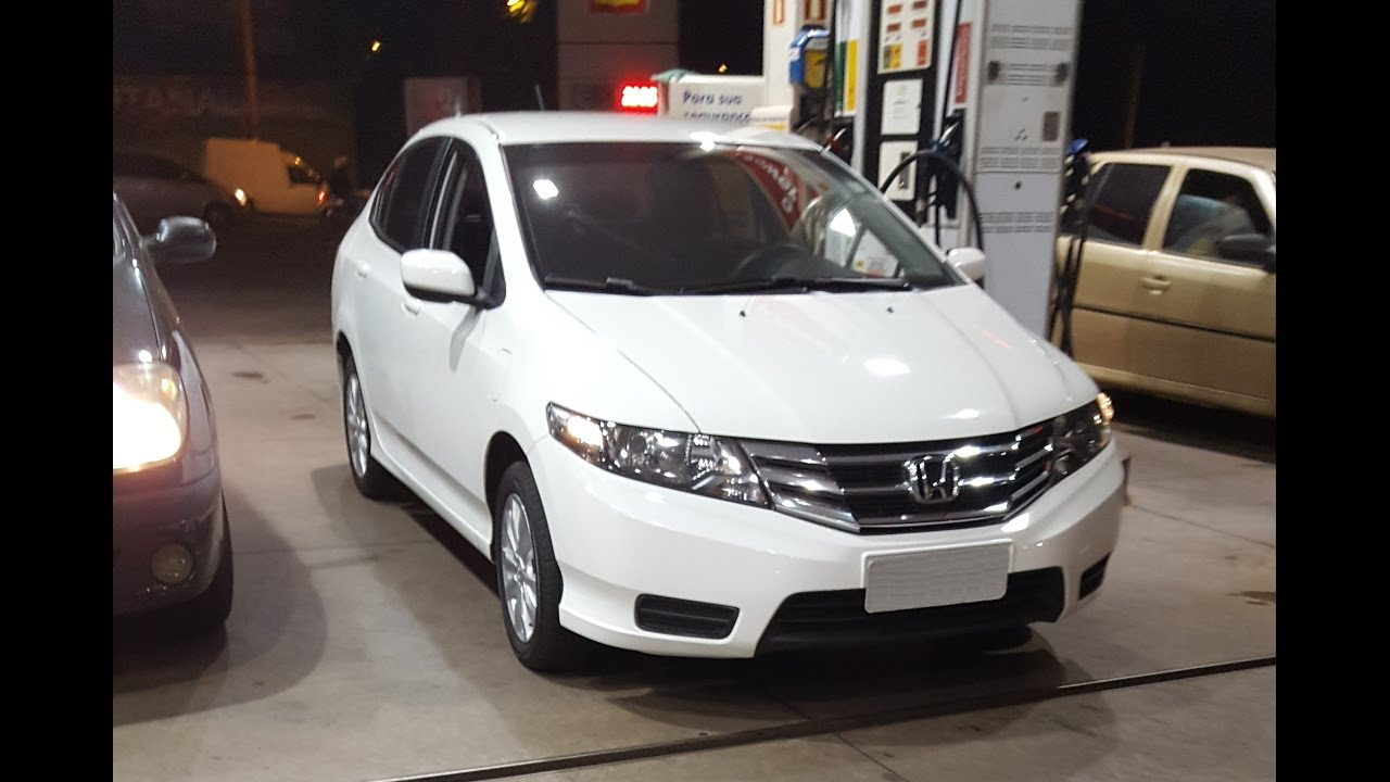 Honda City 2013 AT Consumo de Combustivel Álcool - YouTube