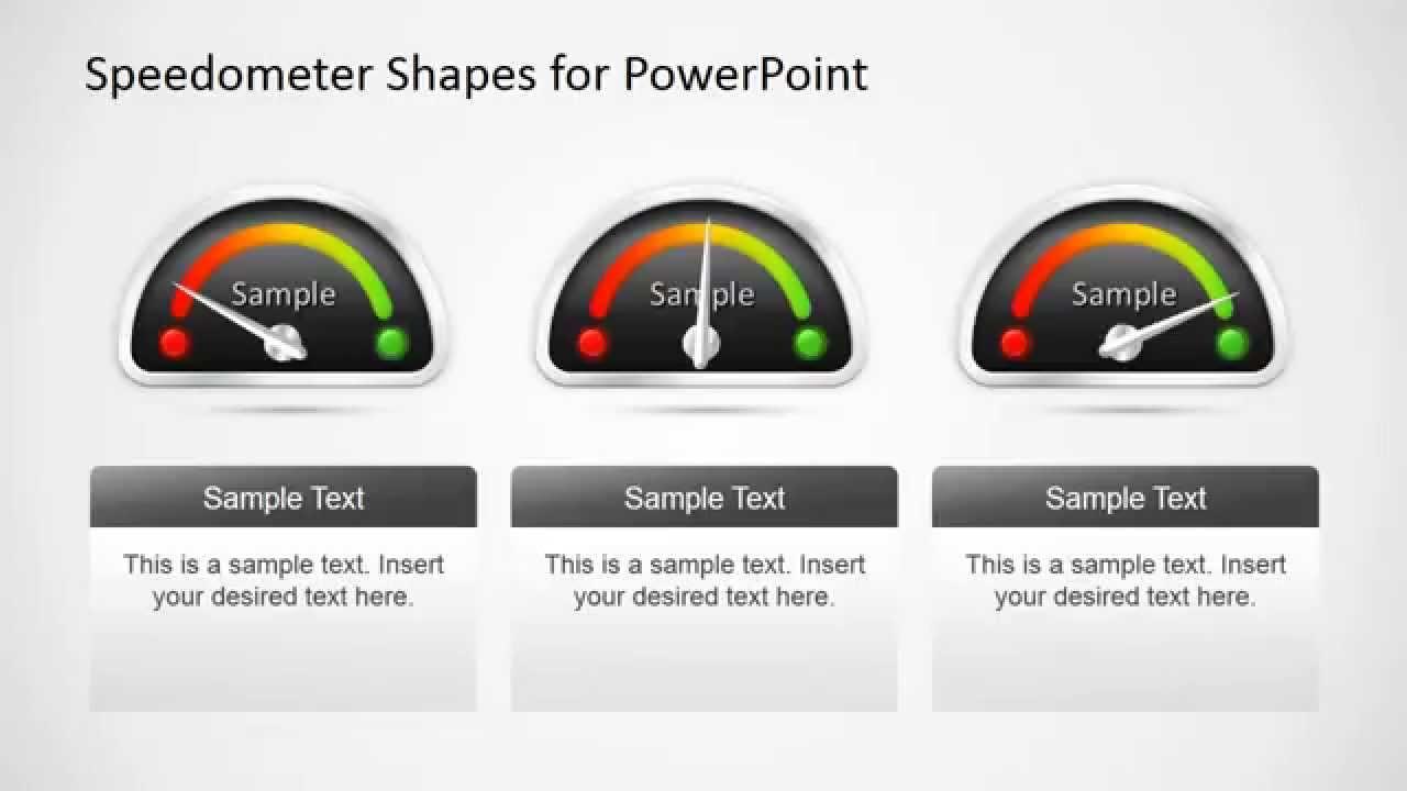animated speedometer powerpoint template - youtube, Modern powerpoint