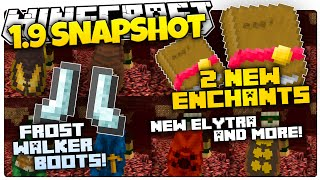 Minecraft 1.9 Snapshot | FROST WALKER BOOTS | 2 NEW ENCHANTS | NEW ELYTRA!