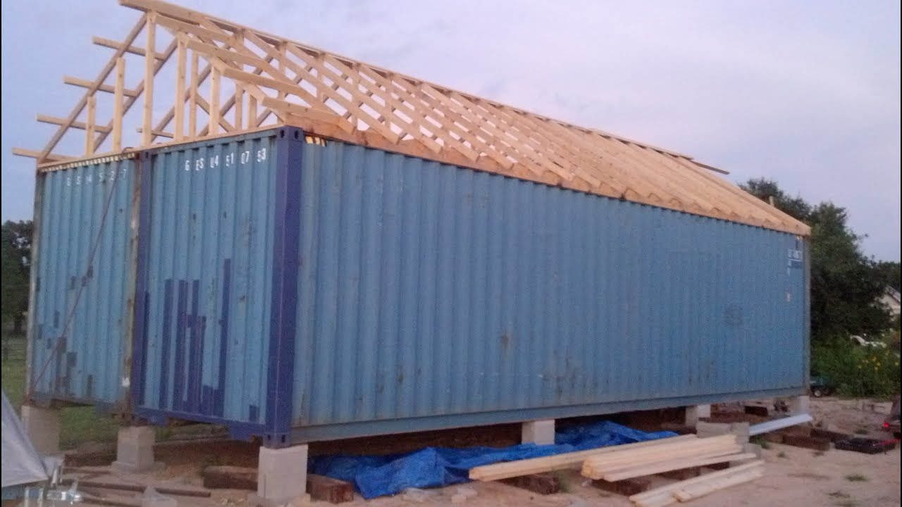 Container home build in pictures part 1 youtube - How to make a home out of shipping containers ...