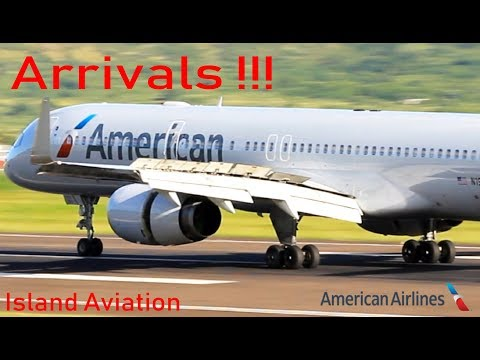 American Airlines arrivals !!! 737-800, A319 ,A320, A321, 757-200 @ St. Kitts Airport