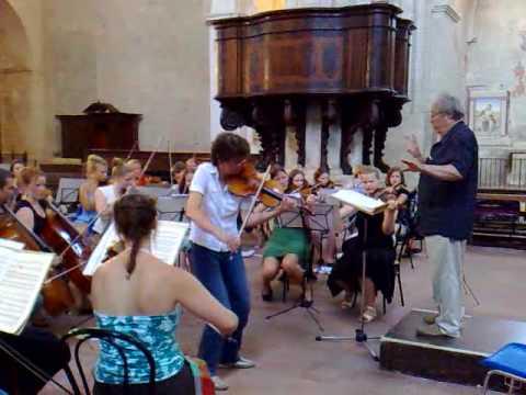 Orkester Norden 2009 / Antje Weithaas - Sibelius rehearsal
