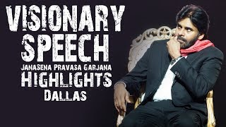 Sri Pawan Kalyan Most Powerful & Visionary Speech | Dallas | JanaSena Pravasa Garjana thumbnail