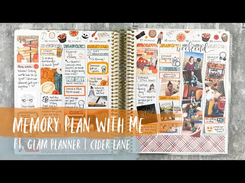 MEMORY PLAN WITH ME | ft. glam planner | erin condren vertical