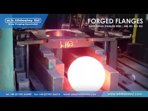 Drop Forging Flanges in Super Duplex Stainless Steel