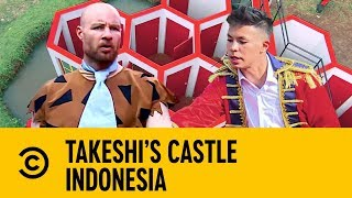 Stephen Bailey Has The Hots For Captain Fero   Takeshi's Castle Indonesia
