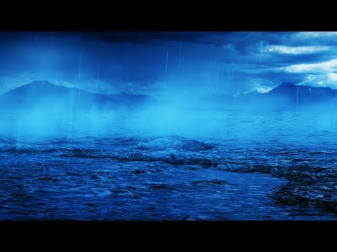 Thunder & Rain with Ocean Sounds | White Noise for Sleeping or Studying | 10 Hours