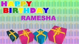 Ramesha - Card Tarjeta_762 - Happy Birthday