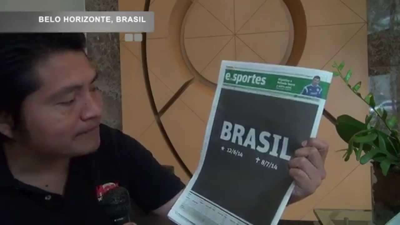 Diarios de Brasil reaccionan a goliza de 7-1 por Alemania