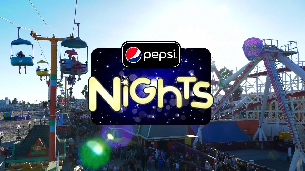 Pepsi Nights  Santa Cruz Beach Boardwalk  Spot