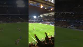 Manchester United fans away at Chelsea after Herrera goal