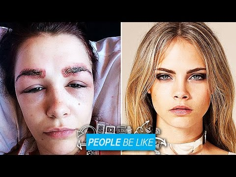 Teen Ruins Face To Look Like Cara Delevingne