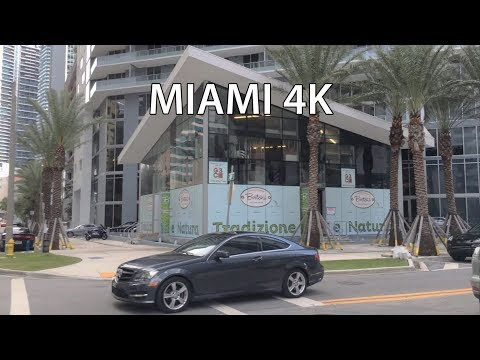 Driving Downtown - Miami USA 4K