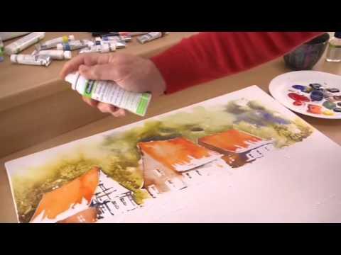 Landschaft mit Aquarellfarben und Gouache von Schmincke malen – Anleitung
