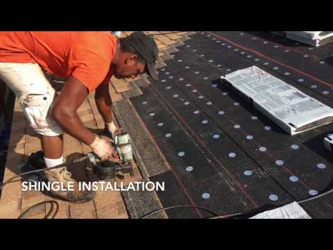 Shingle roof completion