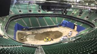 Time-Lapse Arena Flip: Utah Jazz Game to Monster Jam