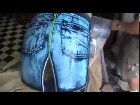 Custom Chopper - Painting with Jeans?!