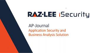 [WEBINAR] AP-Journal for IBM i by Raz-Lee Security