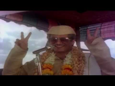 Accident Movie Scenes - Ramesh Bhatt delivering public speech & media coverage