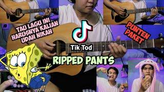 Download lagu TIKTOD SPONGEBOB RIPPED PANTS KOPLO AKUSTIK | punten paket