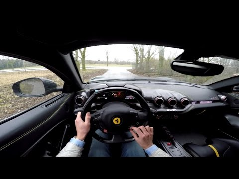 POV Drive: Ferrari F12 TDF +250 km/h on the Autobahn!