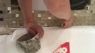 Как затирать шов между плиткой и ванной 2 дубль заключительный