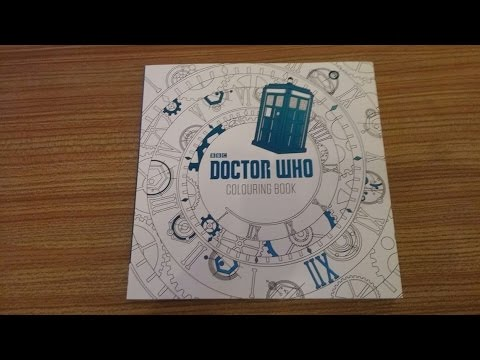 NEW Doctor Who Adult Colouring Book