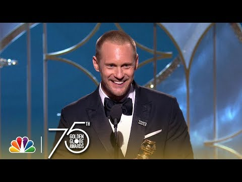 Alexander Skarsgård Wins Best Supporting TV Actor at the 2018 Golden Globes