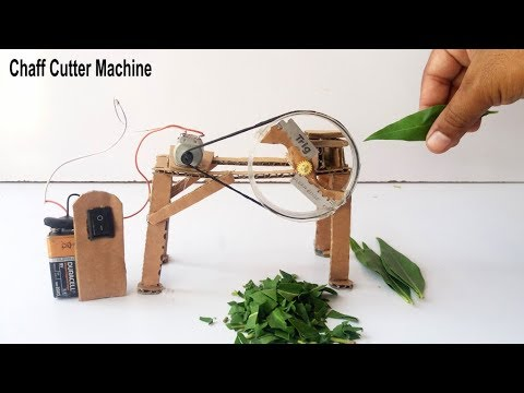 How to Make a Chaff Cutter Machine From Cardboard