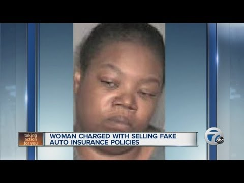 Woman charged with selling fake auto insurance policies
